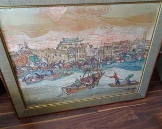 Seah Kim Joo Batik Painting
