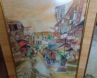 Seah Kim Joo Batik Painting.