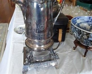 Reed & Barton Silver Plated Water Pitcher on Stand