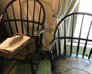 Matching Windsor style arm chair and rocker