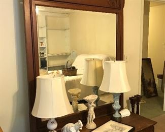 Dresser to match Victorian bed.  Mirror tilts!