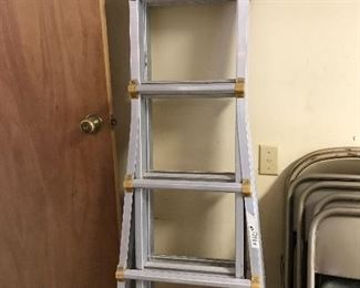 Multiuse metal ladder