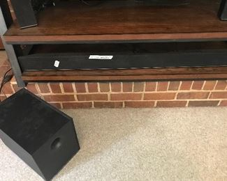 Visio 54 inch sound board with three speakers