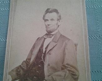 Civil War Era Portrait Card of Abraham Lincoln