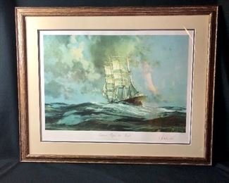 "Signed John Stobart Print- ""gatherer Before the Wind"" numbered 248/750"