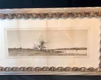 Edward L. Field 9American 1856-1914) pencil signed etching.