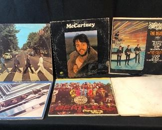 Lot of over 30 rock albums including Beatles, Grateful Dead, Simon & Garfunkle, and more.