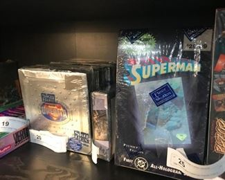trading cards -sealed boxes - Superman
