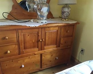 Two matching dressers with mirrors