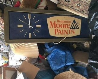 Vintage Benjamin Moore Paint clock