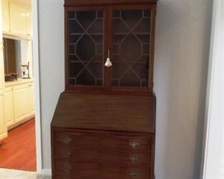 Antique slant front secretary