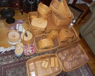 Big Collection of Longaberger Baskets