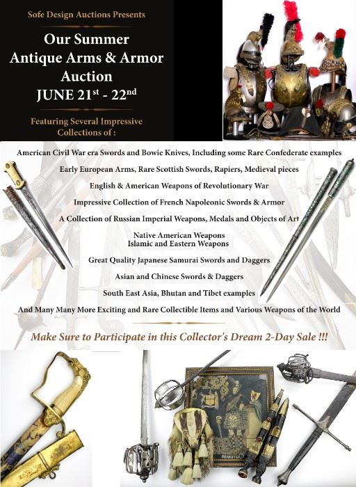 Summer Antique Arms and Armor Sale in Richardson, TX starts