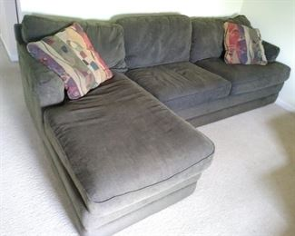 Sofa with detachable fainting couch