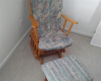 Glider rocker with glider footstool