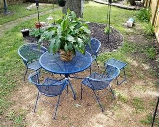 6 piece vintage wrought iron patio set