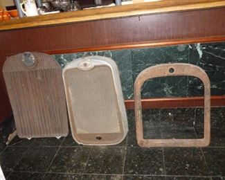 More antique grills..far right 1920s Dodge Bros. Grill Shell