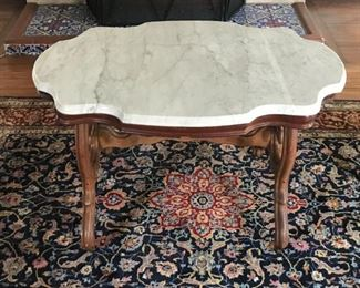 Marble topped table - $80