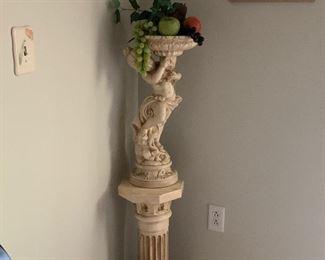 Cherub with pedestal