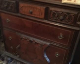 . . . another nice walnut dresser (sorry for unsteady hand causing blurriness).
