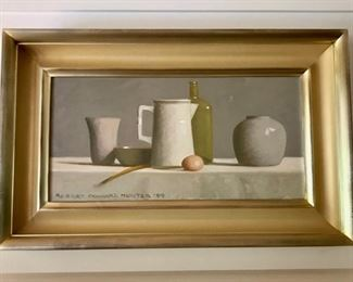 """""""Arrangement in Off-White"""" original oil painting on canvas by Robert Douglas Hunter"""