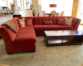 Mitchell Gold sectional and coffee table