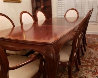 "Table & Chairs - 6 Side Chairs - 2 /Arm chairs - Table 40"" W x 92"" L"