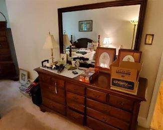 Thomasville chest and mirror