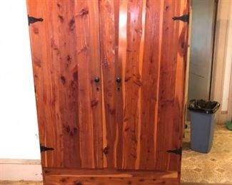 Cedar wardrobe, has original papers on inside door