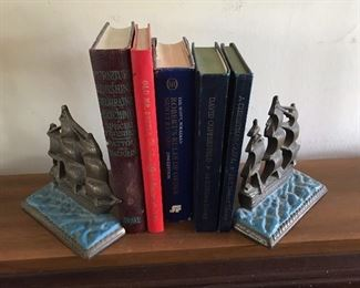 Vintage USS Constitution bookends