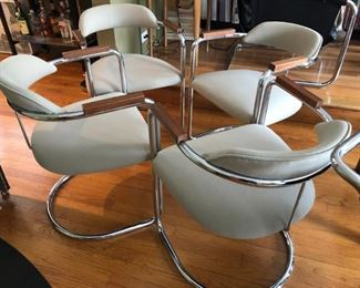 """Set of 4 """"Speakeasy Chairs"""" from 1920's."""