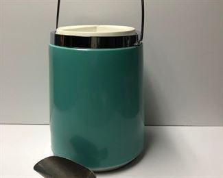 Mid Century Ice Bucket with scoop, c.1960.