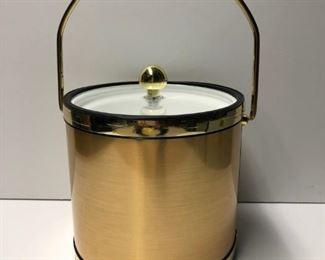 Mid Century Gold and Brass Ice Bucket, c.1960.