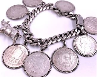 Antique Spanish coin bracelet