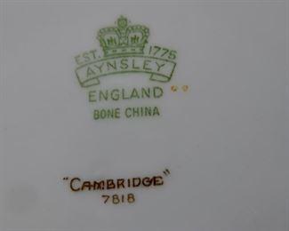Aynsley Bone China Mark Circa 1939 -- Cambridge pattern