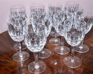 5. Set of Fourteen 14 WATERFORD Kildare Crystal Wine Glasses