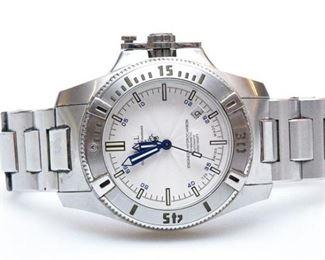 6. Mens BALL Official Railroad Standard Stainless Steel Wristwatch