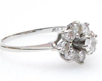 9. Womens 14K White Gold Cocktail Diamond Ring