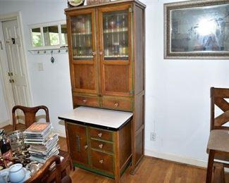 10. Vintage 1930S Oak Kitchen Hoosier Cabinet