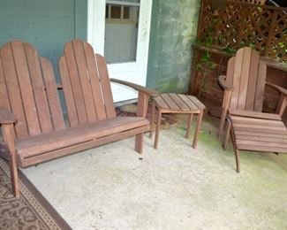 Adirondak style patio furniture