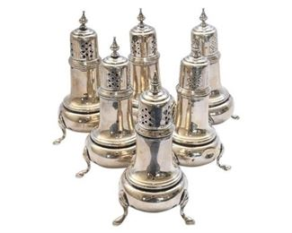 1. Three 3 Pairs Sterling Silver SP Shakers