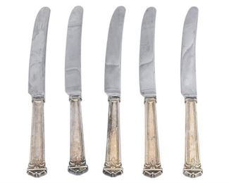 3. Set of Five 5 Sterling Silver Knives