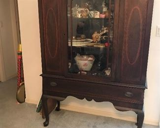 Antique China Hutch 61 t x 43 wx 15.5 d