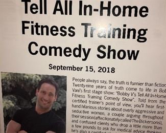 Bobby V (seller) is a personal trainer and stand up comedian.   The workout equipment being sold is quality!