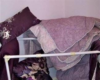She loved purple!  Bedding