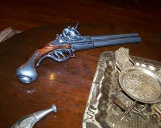 Pair of reproduction dueling pistols