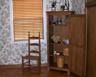 Cupboard and country chair