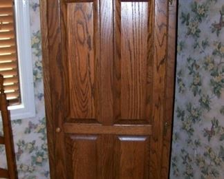 Oak one door cupboard