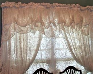 Beautiful set of lace curtains (second set in closet)