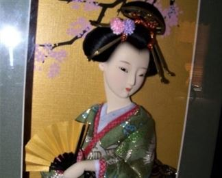 Geisha girl, framed